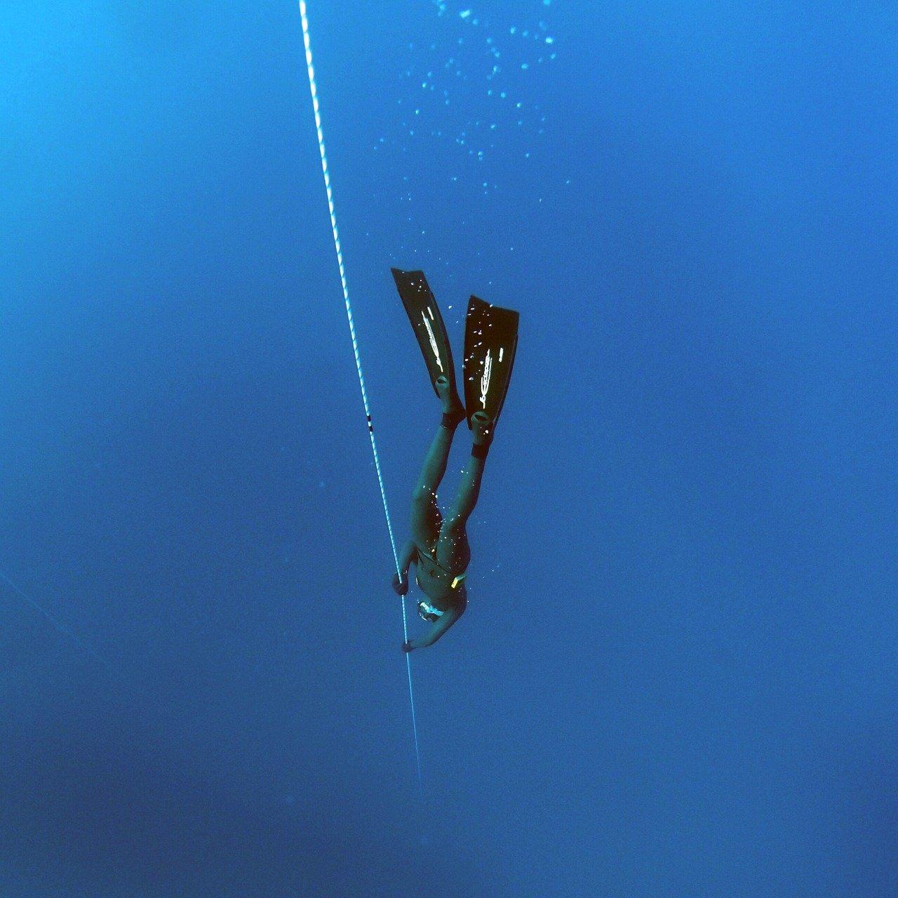 freediving, deep, underwater